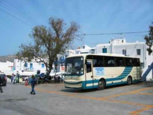 mykonos bus station